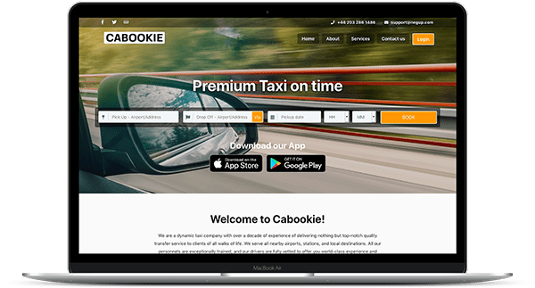 Cabookie - Taxi Booking Software Demo | Cab Booking Website